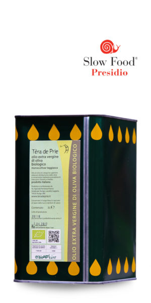 olio extra vergine di oliva taggiasca biologico Tèra de Prie Presidio Slow Food