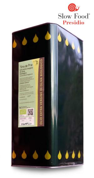 olio extra vergine di oliva taggiasca biologico presidio slow food Tèra de Prie lattina 5L