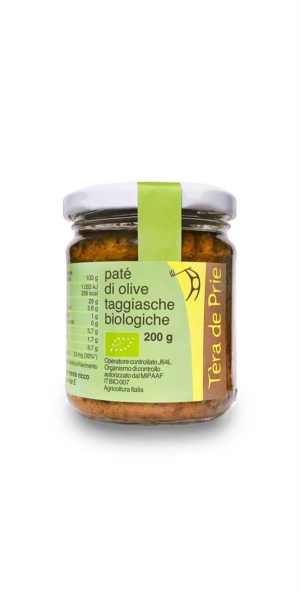 vaso di paté di olive taggiasche biologiche tèra de prie