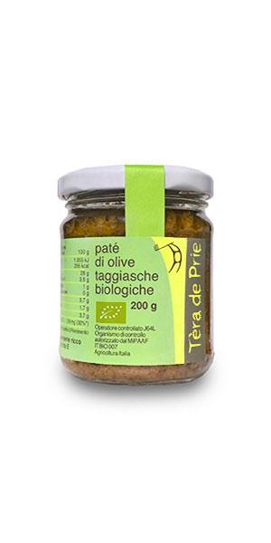 Vaso di olive biologiche in salamoia varietà Taggiasca