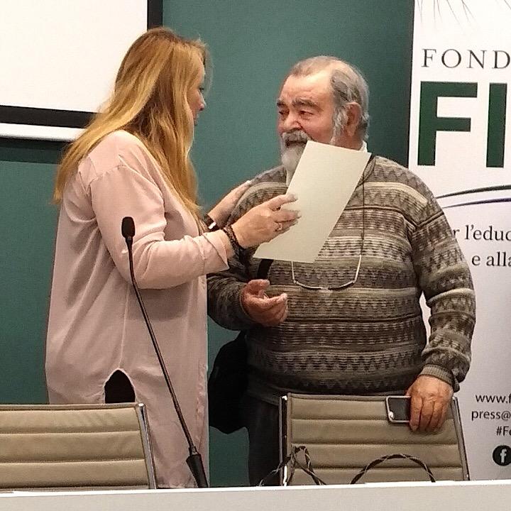Franco Ferrarese di Tèra de Prie alla premiazione presso il FICO Eataly World di Bologna