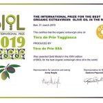 Gold Medal Premio Biol 2019 monocultivar taggiasca
